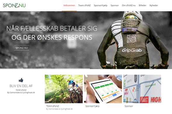 Sponz.nu portal web løsning